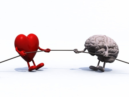 Heart and Brain Tug-o-War